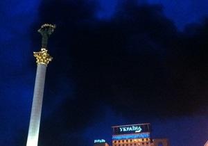 Вчера из-за пожара в центре Киева почти полчаса не работала станция метро Майдан Незалежности