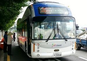 Южнокорейцы запустили электроавтобус, заряжающийся от трассы - новости Южной кореи - электромобиль