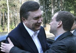 Медведев объяснил причины частых встреч с Януковичем: Соскучились, знаете ли