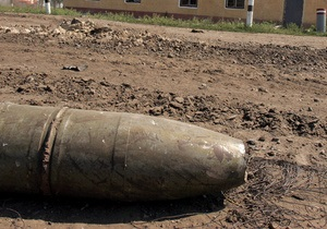 В Киеве нашли пять боевых снарядов времен войны