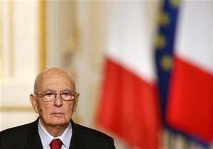 Президент Италии Наполитано осудил политиков за бессилие