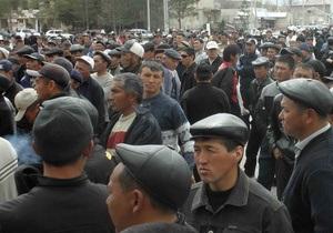 Сторонники Бакиева захватили крупнейший аэропорт на юге Кыргызстана