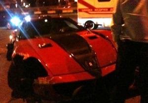 В Киеве разбился эксклюзивный Ferrari стоимостью $500 тысяч