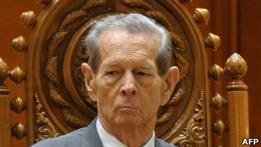 В парламенте Румынии выступил бывший король Михай I
