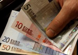 Курс евро снова падает из-за негативных новостей из еврозоны
