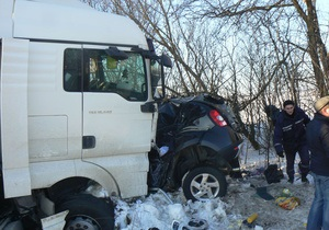 В Хмельницкой области в последний день 2012 года произошло ДТП, унесшее жизни пяти человек