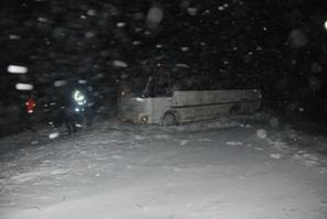 МЧС предоставило застрявшим на трассе Киев-Чоп водителям чай, печенье и психологическую помощь