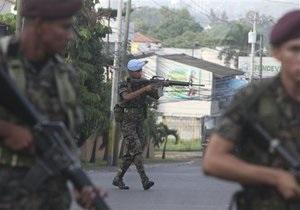 В Гондурасе полицейские пытались ограбить банк