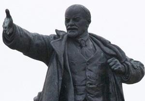 В Запорожской области памятнику Ленину отбили голову