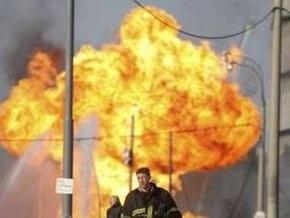 В Москве потушили пожар на трубопроводе