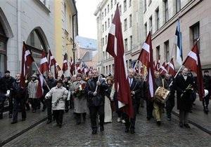 В Риге проходит шествие бывших легионеров СС