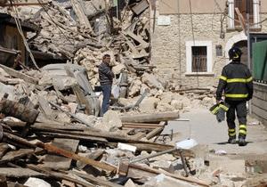 Землетрясение в Италии: правительство ввело режим чрезвычайного положения