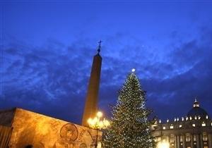 Папа Римский Бенедикт XVI зажег огни главной елки Ватикана