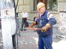 Киевэнерго отключила свет в киосках на Подоле