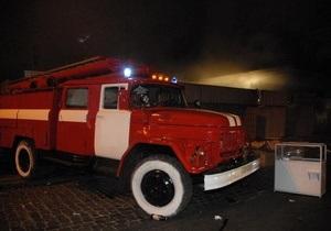 В одной из гимназий Киева произошел пожар