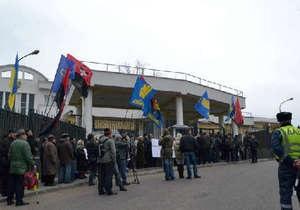 В Одессе активисты Свободы призвали Москву покаяться за Голодомор
