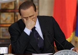 Берлускони извинился перед народом за кризис в экономике Италии