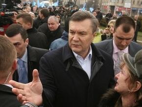 Янукович рассчитывает на победу в первом туре выборов президента