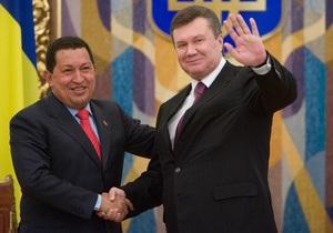 На Банковой уверены, что визит Чавеса не навредит отношениям Украины и США