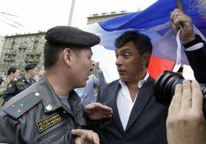 В Москве задержали Немцова, Лимонова и еще около 70 оппозиционеров