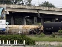 Железнодорожная авария в США: Произошла утечка соляной кислоты