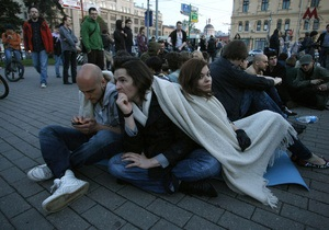 В Москве полиция разогнала еще одну акцию протеста