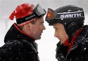 Путин и Медведев покатались на лыжах и снегоходах