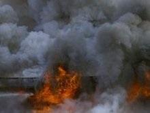В центре Москвы горит жилой дом