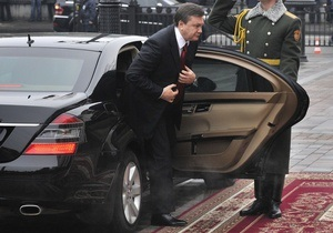 Визит Януковича в Бучу на время парализовал движение по Варшавской трассе