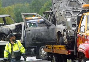 Гололед в Калифорнии спровоцировал столкновение 60 автомобилей
