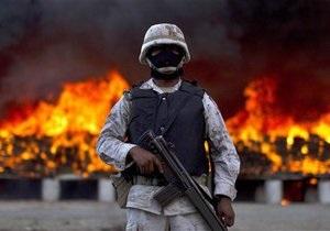 В Мексике сожгли рекордную партию марихуаны