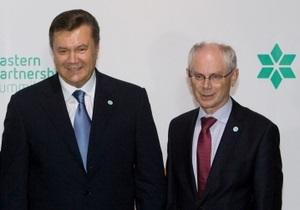 Янукович встретился с Меркель и Баррозу в Варшаве