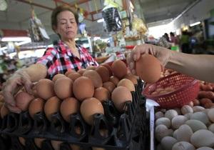 Цены на яйца в Украине выросли в два раза