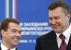 Янукович принял поздравления от Медведева