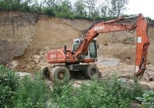 Комиссия КГГА установила, что у строителей нет разрешения на работу в заповедной зоне