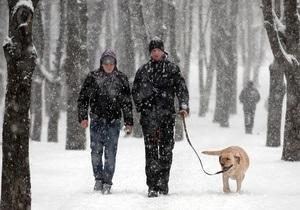 Завтра в Украине температура воздуха будет колебаться от 12 мороза до 14 тепла