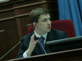 Киевсовет: Довгий смог провести голосование, несмотря на блокирование трибуны