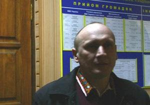Один из задержанных участников Дня гнева заявляет, что милиция обвинила его в нецензурной брани