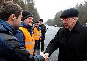Азаров открыл новую дорогу Киев - Ирпень