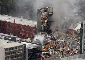 Землетрясение в Новой Зеландии: под завалами могут оставаться около 200 человек