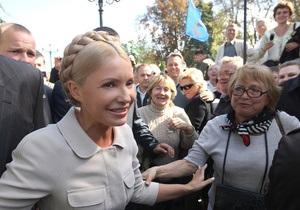 Тимошенко призвала активистов Батьківщини прекратить голодовку