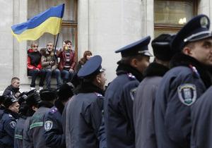 Акция протеста на Банковой: организатор потерял сознание