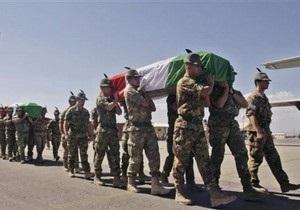 В Италии епископ призвал не делать героев из погибших в Афганистане солдат