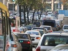 Из-за маршруток в центре Киева ограничено движение транспорта