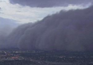 Пыльная буря накрыла Аризону