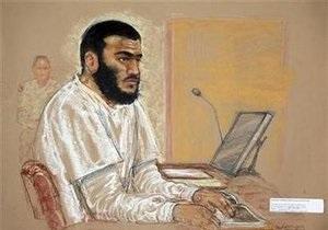 В Гуантанамо начался суд над самым молодым заключенным