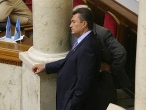 Рада начала вечернее заседание с перерыва. Янукович обвинил коалицию в профанации