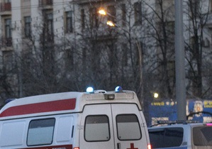 Возле здания Верховной Рады мотоцикл столкнулся с милицейской машиной