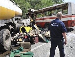 В ГИБДД сообщили, что автобус под Ростовом столкнулся с масловозом, а не с бензовозом
