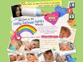 В США мать восьми близнецов открыла сайт для сбора пожертвований